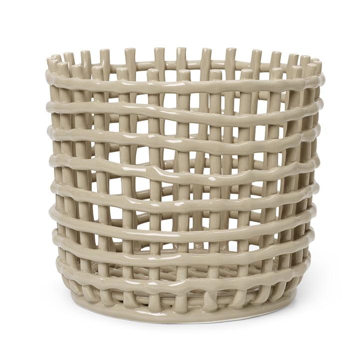 Der grosse Keramik Korb von ferm Living in cashmere
