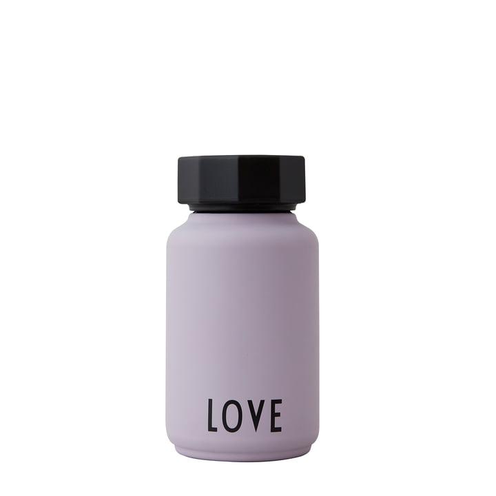 Die AJ Thermosflasche Hot & Cold von Design Letters, Love / lavendel (Sonderedition)