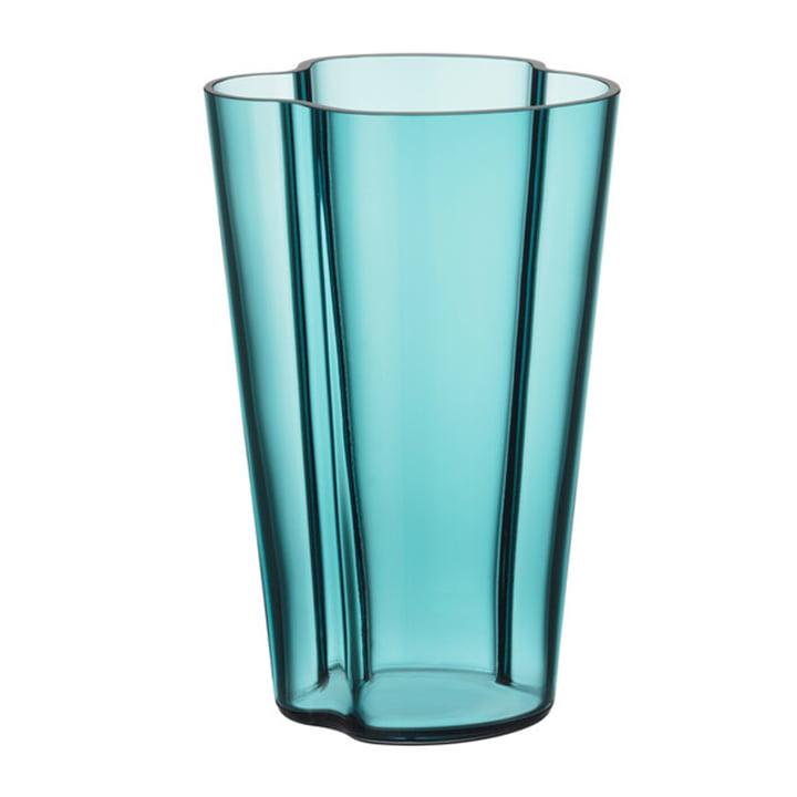 Die Aalto Vase von Iittala, 220 mm, seeblau
