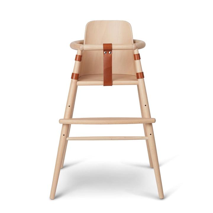 Die Stuhllehne für ND54 Kinder-Hochstuhl von Carl Hansen, Buche matt lackiert / cognac