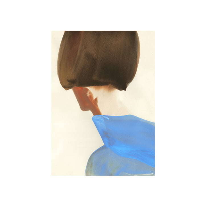 Das The Blue Cape Poster von Paper Collective, 50 x 70 cm