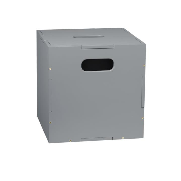 Die Cube Aufbewahrungsbox mit Rollen von Nofred, grau