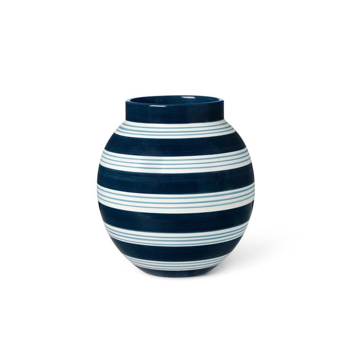 Die Omaggio Vase von Kähler Design, H 20,5 cm, dunkelblau