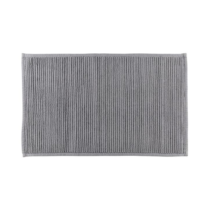 Die Plissé Badezimmermatte von Södahl, 50 x 80 cm, grau