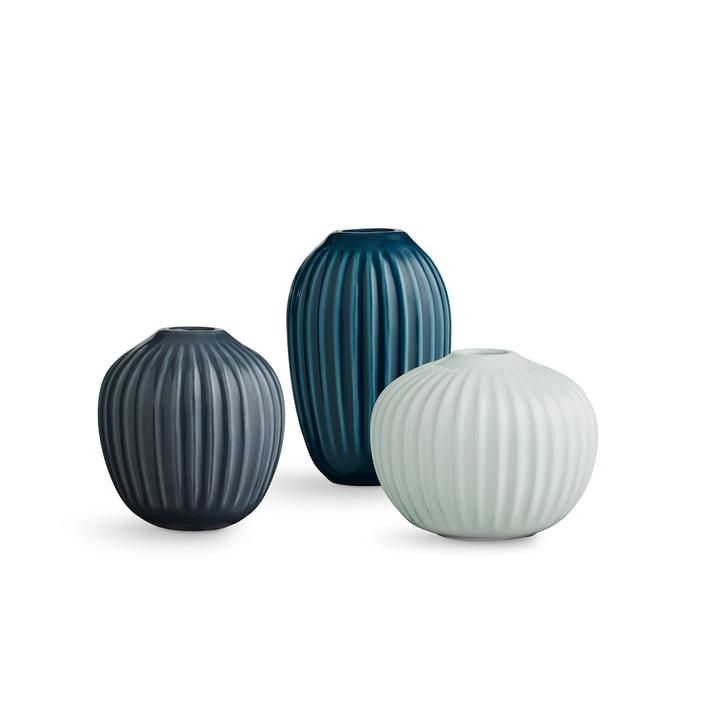 Hammershøi Vase Miniatur von Kähler Design in grün (3er-Set)
