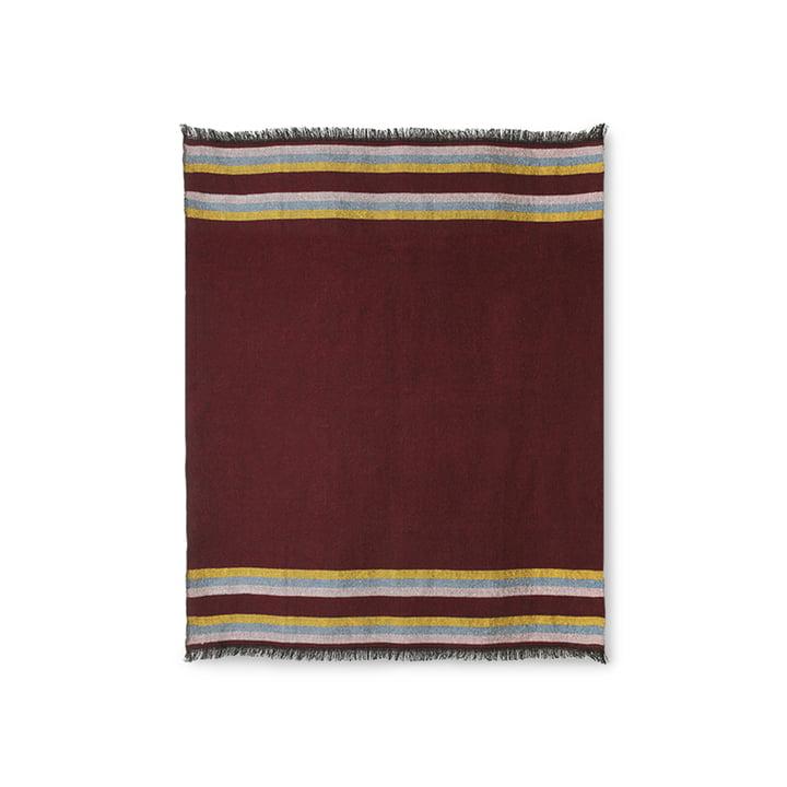 Die DORIS Vintage Decke von HKliving, 130 x 150 cm, burgundy