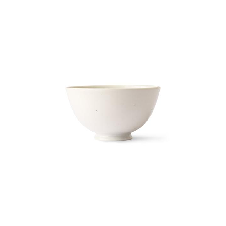 HKliving - Kyoto Schale Reis, Ø 11,3 cm, weiss gesprenkelt