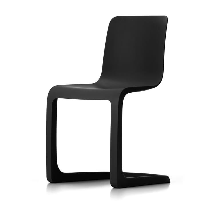 Der EVO-C Vollkunststoff-Stuhl von Vitra, graphite grey