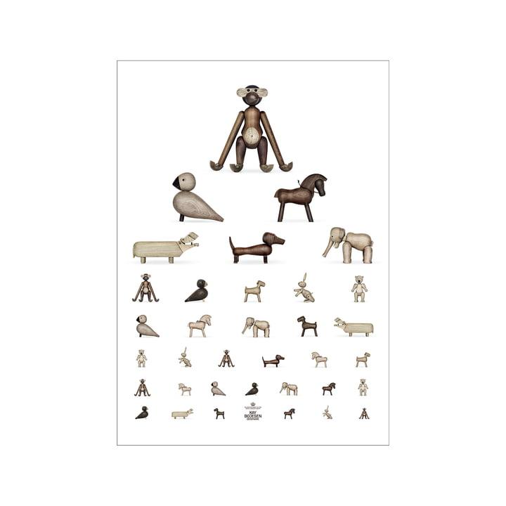Sehtest Poster, 30 x 40 cm, braun / weiss von Kay Bojesen