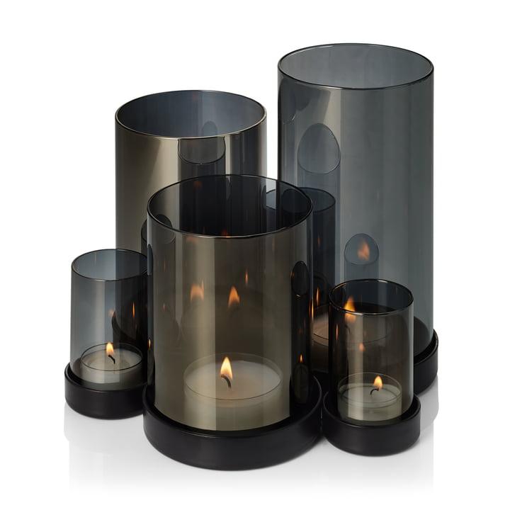 Das Lichtermeer Windlicht von Philippi, schwarz / transparent