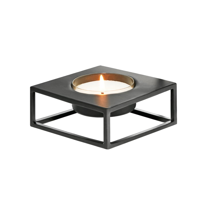 Solero Teelichthalter S für Maxi-Teelichte von Philippi in schwarz