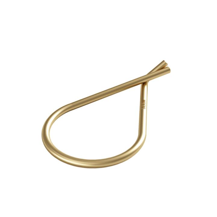 Schlüsselanhänger Ø 38 mm von Moebe in messing