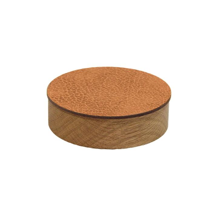 Wood Box mit Deckel rund S Ø 11 cm von LindDNA in Eiche natur / natur