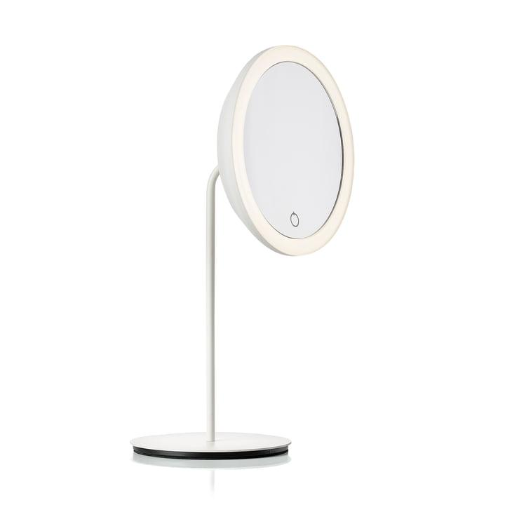 Kosmetikspiegel mit 5-fach Vergrösserung und LED-Beleuchtung Ø 18 cm von Zone Denmark in weiss