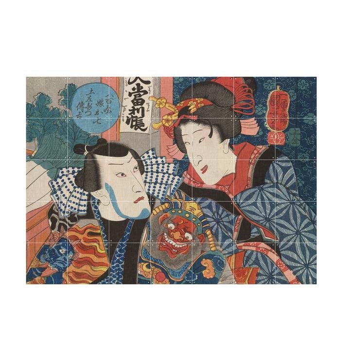 Bando Shuka von Utagawa Kuniyoshi als Wandbild von IXXI in der Grösse 140 x 100 cm