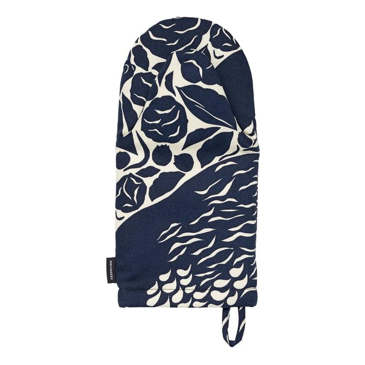 Der Pieni Karhuemo Ofenhandschuh von Marimekko, hellbeige / dunkelblau (Herbst 2021)