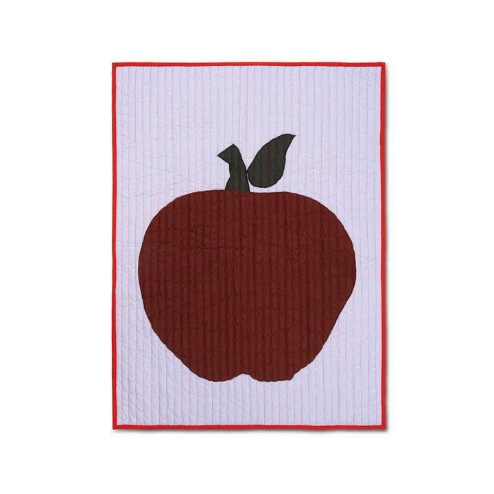 Apfel Kinderdecke 80 x 110 cm von ferm Living in lila