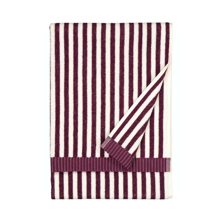 Das Ujo Handtuch von Marimekko, 50 x 70 cm, weiss / brombeere