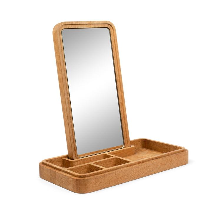 Mirror Box Schmuckaufbewahrung mit Spiegel von Spring Copenhagen in Eiche natur