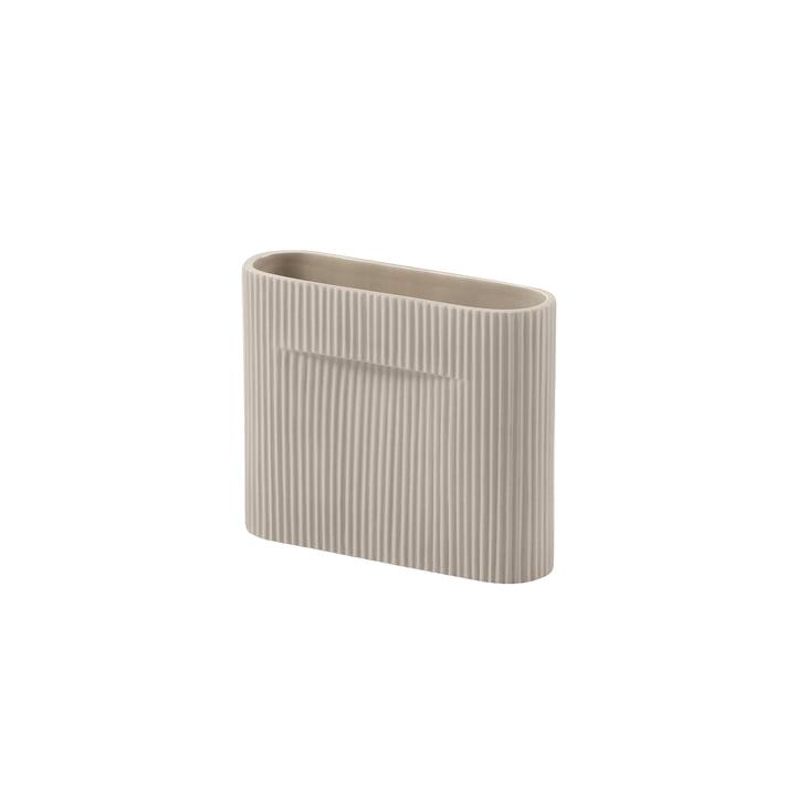 Ridge Vase H 16,5 cm von Muuto in beige