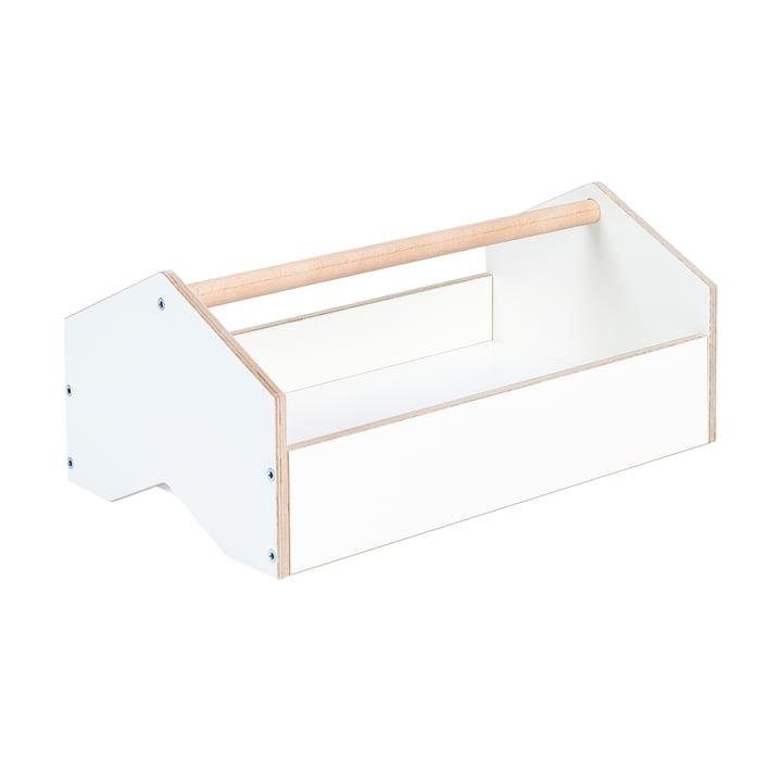 kiste Aufbewahrungsbox von Tojo in weiss / Buche