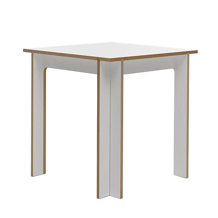 Tisch 75 x 75 cm von Tojo in weiss
