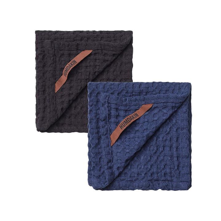 Das Spültuch mit Waffelstruktur von Humdakin, 28 x 28 cm, coal & sea blue