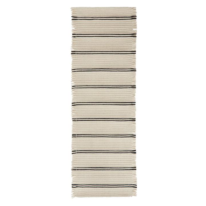 Putki Teppich 250 x 73 cm von OYOY in offwhite / schwarz