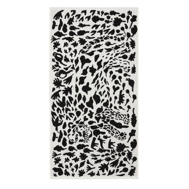 Oiva Toikka Badetuch 70 x 140 cm von Iittala in Cheetah schwarz / weiss