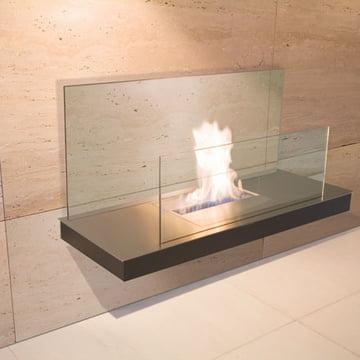 Wallflame II - Edelstahl/ Glas, klar