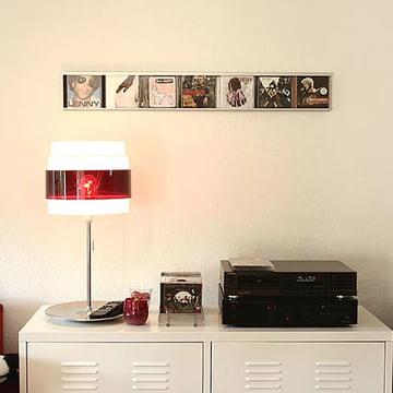 Kunstvolle Präsentation von CDs mit dem Sigmarail Aluminium CD-Regalsystem