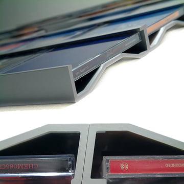 Lowkon - Sigmarail Aluminium CD Regalsystem (SR7), Detailansicht