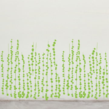 Domestic - Jungle Peas Wandsticker, grün