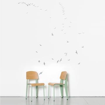 Domestic - Flock of Gulls Wandsticker