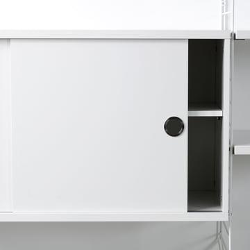 String Regalsystem Schrank mit Schiebebtüren, weiss