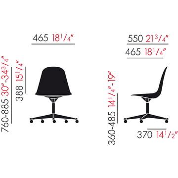 Eames Plastic Side Chair PSCC