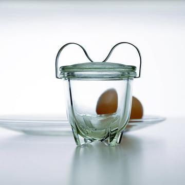 Jenaer Glas - Wagenfeld Eierkoch No. 1 mit Ei