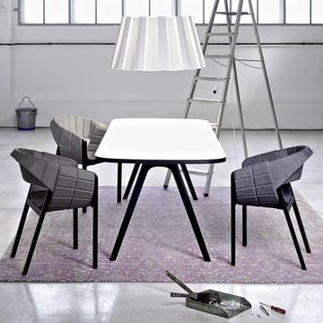 Wogg 43 Tisch mit Wogg 42 Sessel