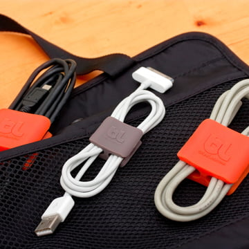 Bluelounge - CableClip, orange und grau