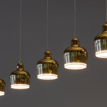 A 330S Golden Bell Pendelleuchte, Messing, Gruppenbild