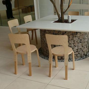Stuhl 66 von Alvar Aalto für Artek