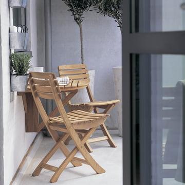 Design auf kleinstem Raum: Skagerak Vendia Tisch und Stühle