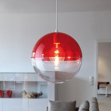 Koziol - Orion Pendelleuchte, transparent rot