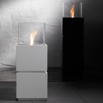 Safretti - Cube W1/B1 Feuerstelle - Schwarz und Weiss