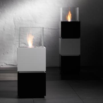 Safretti - Cube W1/B1 Feuerstelle - schwarz/weiss