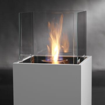 Safretti - Cube Feuerstelle W1, weiss