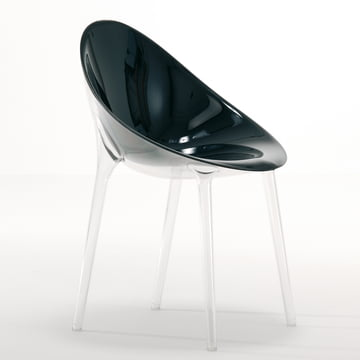 Kartell - Mr. Impossible Stuhl, transparent / schwarz
