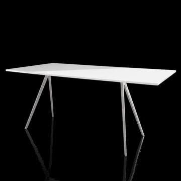 Magis - Baguette Tisch - weiss - schwarzer Hintergrund