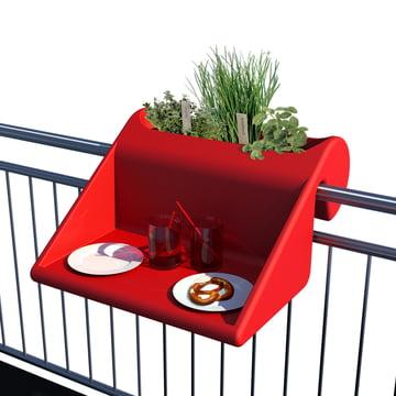 Balkonzept von rephorm in Rot