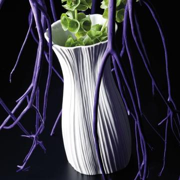 Rosenthal - Plissée Vase, weiss